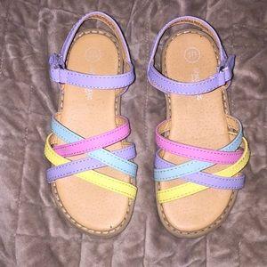 50ae3d18e3e7 OshKosh B gosh Shoes - Multicolor rainbow girls sandals